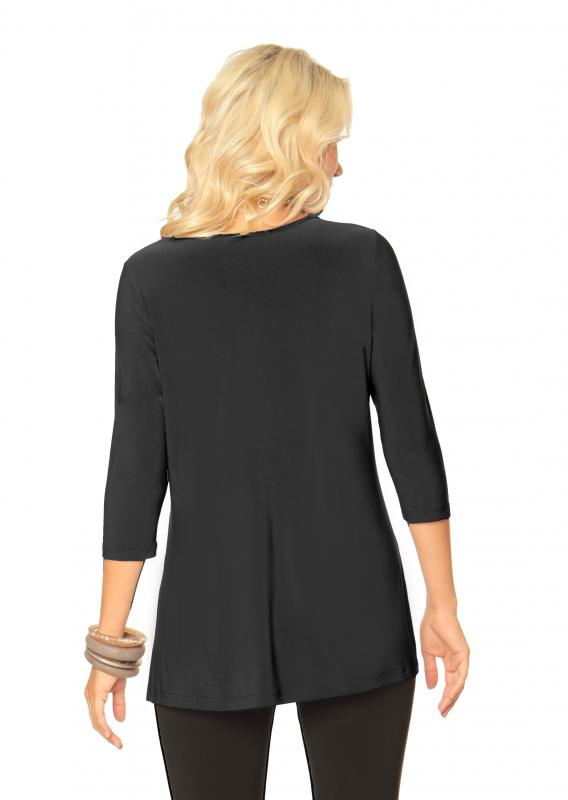 V-neck Tunic with Side Slit ADT-06 - TheLittleShopOnline.com