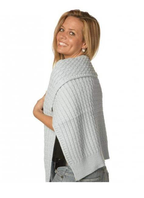 Cable Cotton Sweater Wrap - TheLittleShopOnline.com